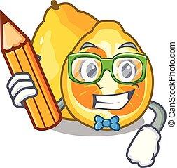 Student ugli in the mascot fruit basket illustration vector