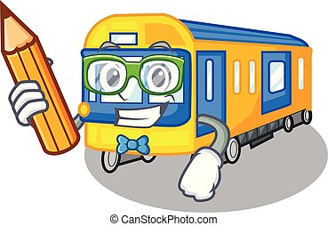 student, undergrundsbane tog, legetøj, ind form, mascot