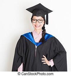student, universiteit, dag, afgestudeerd