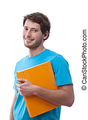 Student wearing t-shirt