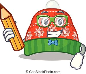 Student winter hat in the mascot shape