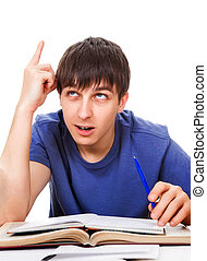 Student with Finger Up