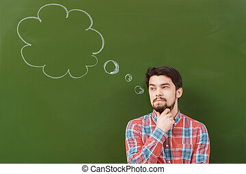 Student with thought bubble