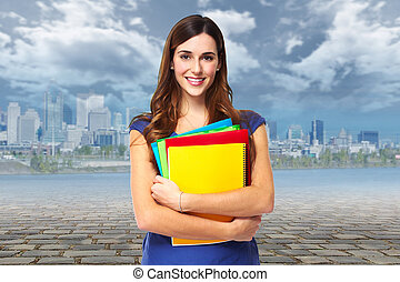 Student woman.