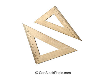 Student wooden rulers