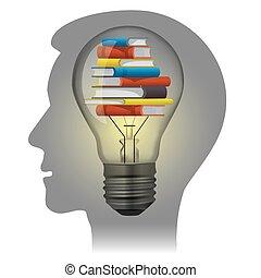 studente, concetto, educazione