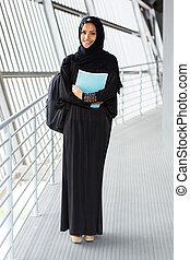 studente femmina, musulmano, università