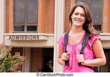 studente femmina, università