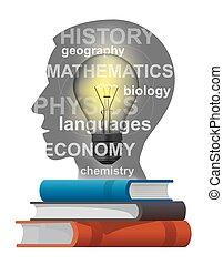 studente, manuali, concetto