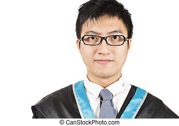 studente maschio, laureandosi