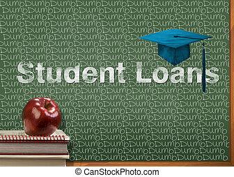 studente, prestiti, ara, dumb.