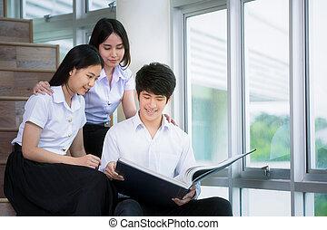 studenten, asiatisch