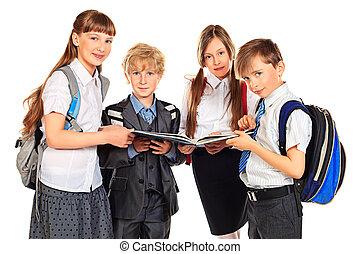 studenten, neugierig