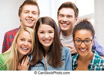 studenten, schule, gruppe