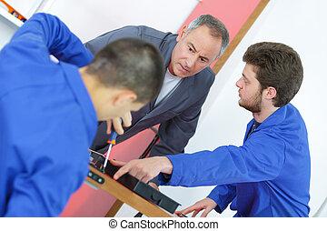 studenti, addestramento, due, professionale
