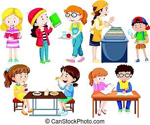 studenti, attività, differente