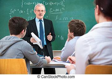 studenti, aula, insegnante