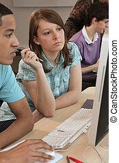 studenti, computer