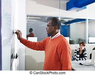 studenti, computer, insegnante, laboratorio