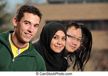 studenti, diverso, gruppo, etnico