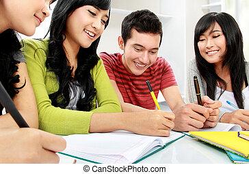 studenti, gruppo