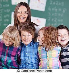 studenti, insegnante, giovane