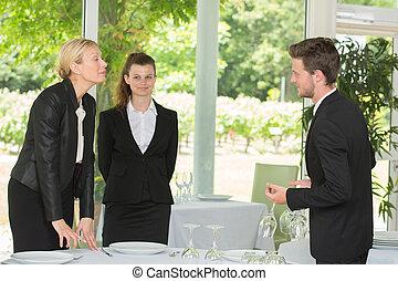 studenti, lavorativo, ristorante