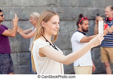 Students and selfie picture