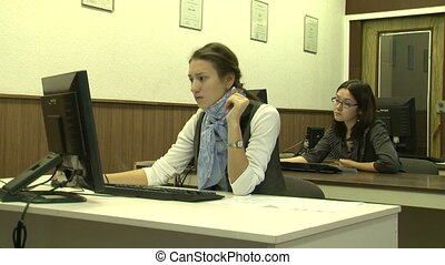 Students at the computer