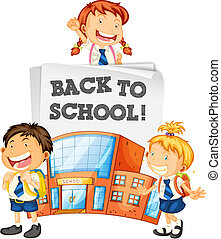 Students back to school template