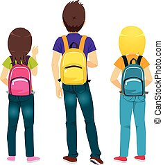 Students Backpacks