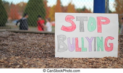 A minority student get shoved, pushed and bullied on the basketball court at the local school.