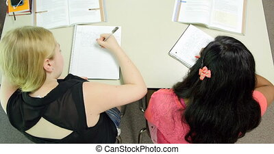 Students doing their assignments/ho
