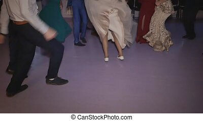 Students graduate dancing at the graduation party