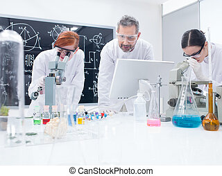 students in chemistry lab