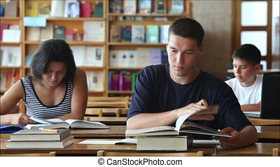 students in the library 4