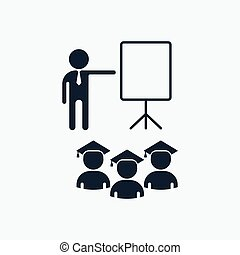 students listen to lecture - Cartoon flat vector...