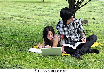 Students outdoor