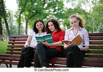 students preparing for exams