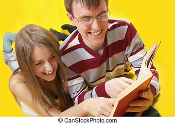 students read books