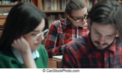 Students Read in Library