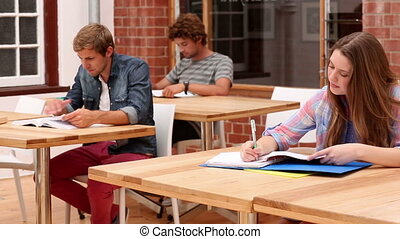 Students sitting in classroom stud