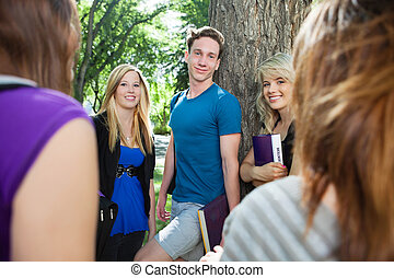Students spending time together