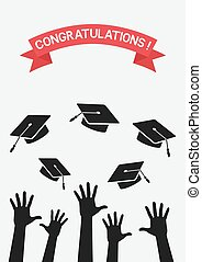 students throw graduation caps
