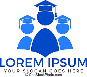 Students vector logo design.