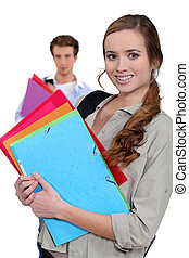 Students with folders