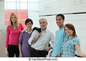 students with their teacher