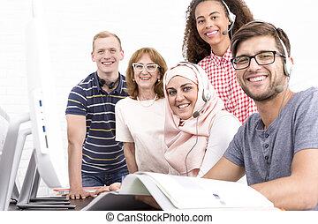 studera, utomlands, till, erfarenhet, a, utländsk, kultur