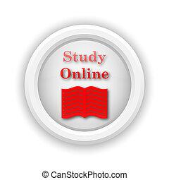 studeren, online, pictogram