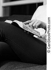 studeren, vrouw, bijbel